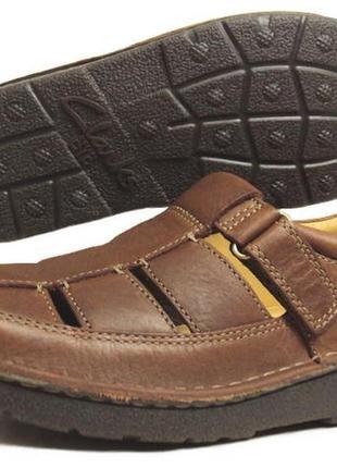 Качество clarks air.шикарные комфор.бренд.туфли-босоножки,полн.кожа,англия