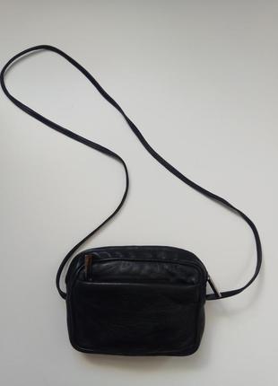Кожаная сумочка, клатч. темно синий. geniune leather