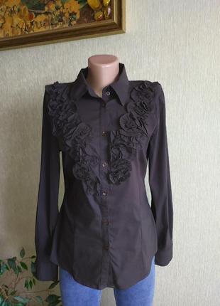 Оригинальная стрейчевая блуза рубашка,р.40