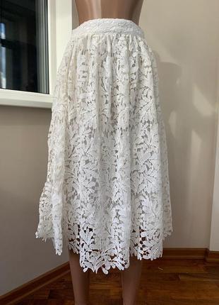Ажурная миди юбка