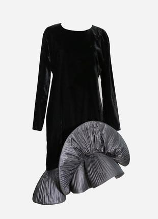 Винтажное бархатное платье р.м pierre cardin оригинал эксклюзив классика