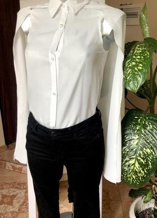Оригинальная блуза с накидкой xs