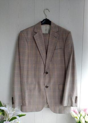 Стильный мужской клетчатый костюм италия/деловой костюм/выпускной костюм/свадебный костюм