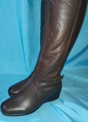 Новые кожаные сапоги sole flex (весна\осень) размер 38 пр-во индия