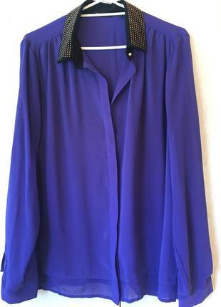 Нарядная шифоновая блузка на подкладке