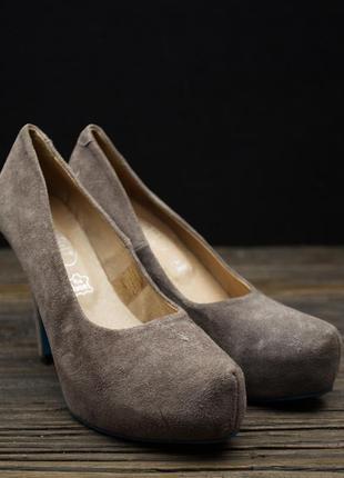 Стильні замшеві туфлі shoot р-38