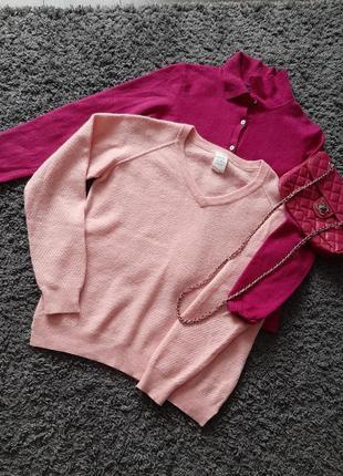 Зефирно-розовый свитер/джемпер , 100% шерсть мериноса🔥