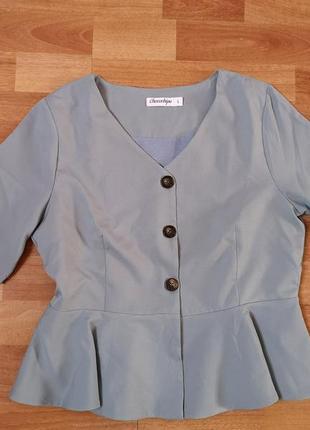 Блуза chocochips голубой цвет