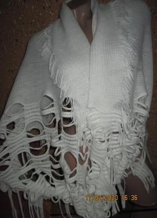 Шикарный шерстяной снуд-шарф-платок