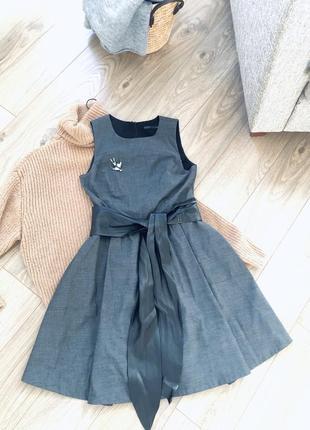 Очень стильное платье zara с кожаным ремнём/наложка
