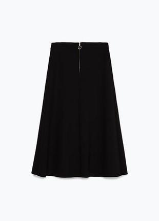 Стильная черная юбка миди zara