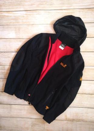 Куртка ветровка jack wolfskin s windstopper джек с капюшоном