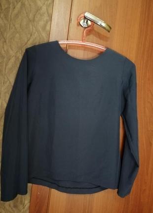 Блузка синяя с бантиком