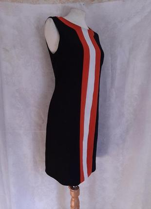 Чёрное платье -сарафан с вставкой спереди,l.