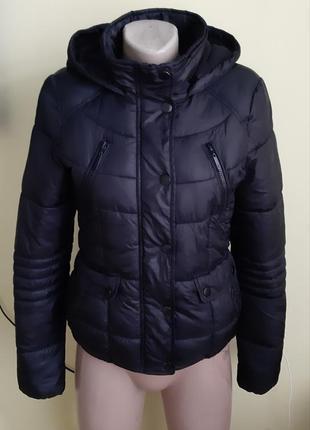 Укороченая куртка на весну теплая, коротка, бомбер, парка
