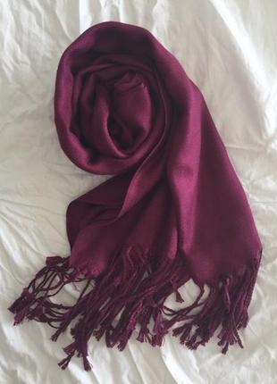 ♥️красивейшая фуксия пашмина турецкая палантин шарф расцветки