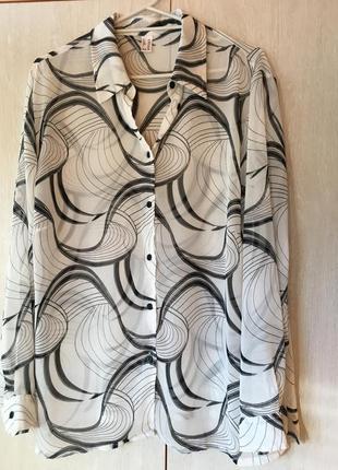 Шифоновая блуза (большой размер)