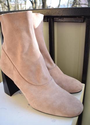 Демисезонные замшевые ботинки ботильоны topshop