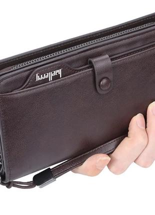 Мужской кошелек портмоне baellerry (s6703) коричневый