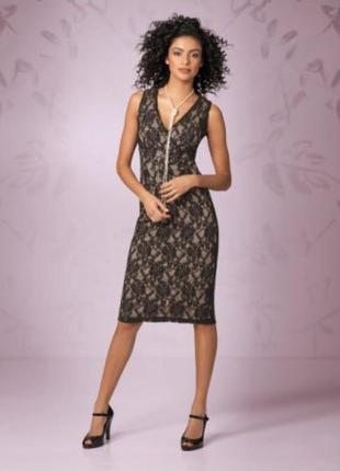 Элегантное кружевное платье bonprix collection