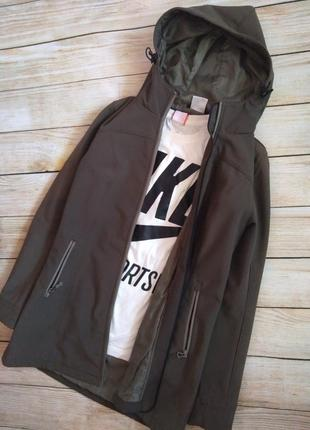 Куртка crane softshell длинная пальто плащ s демисезон ветровка