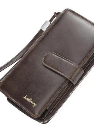 Мужской кошелек портмоне baellerry (s6712) темно-коричневый