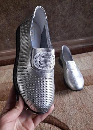 Мокасины туфли женские натуральная  кожа!