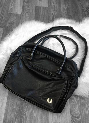 Кожаная мужская сумка fred perry bag x the north face