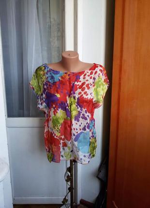 Шелковая блуза chipie 100% шелк