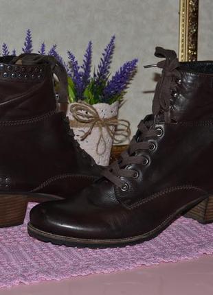 41 - 27 см. ботинки деми на шнуровке и молнии, женская обувь kennel & schmenger