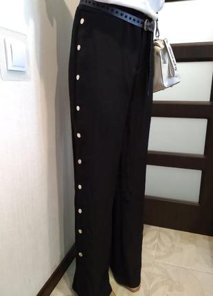 Стильные прямые в пол брюки штаны спортшик