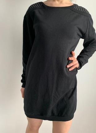 Красиве плаття оверсайз, чорна сукня, черное платье оверсайз.