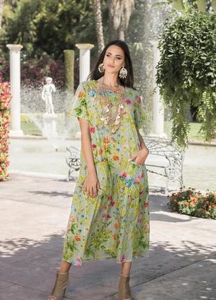 Платье летнее хлопок макси indiano 2514 в наличии