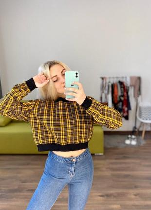 Шикарный свитшот укороченный кофта худи короткая свитер