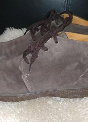Ecco ботинки замша всередині шкіра