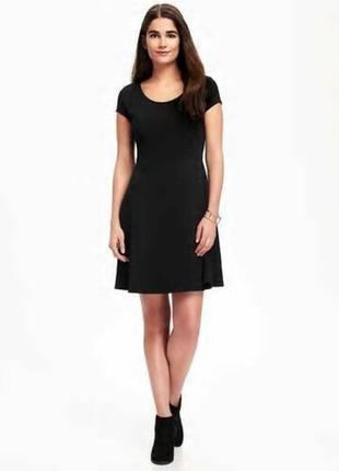 Gap old navy black fit & flare dress