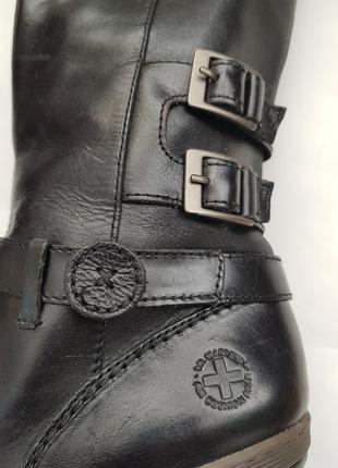 Оригинал! dr.martens 38 39 кожаные черные демисезонные сапоги высокие