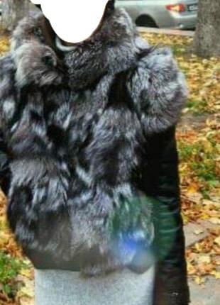 Чернобурка куртка-трансформер турция