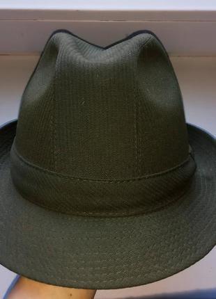 Шляпа risa swiss шерсть хаки matterhorn cord, швеция винтаж. 56-57.