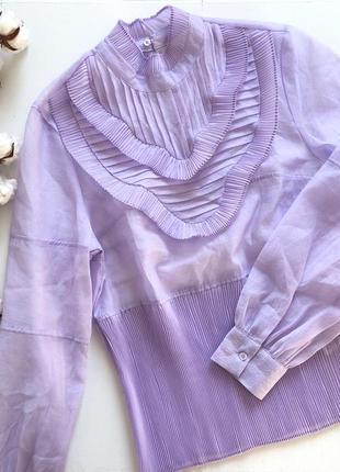 Романтичная ,очень нежная лиловая блузка h&m