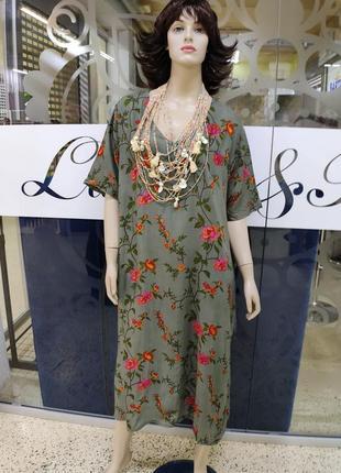 Летнее женское платье с вискозы indiano 2523