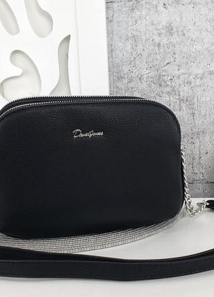 Клатч david jones еко кожа есть цвета через плечо длинный ремешок сумка кросс боди