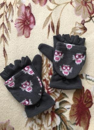 Митенки, варежки трансформеры, перчатки варежки 2 в 1