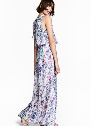 Цветочное макси платье в пол