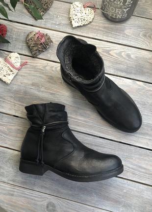 5th avenue кожаные утеплённые ботинки на низком ходу