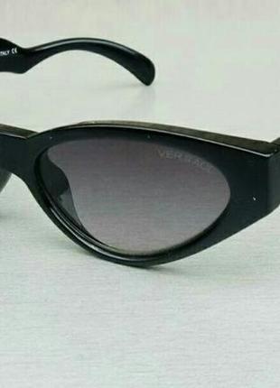 Versace очки кошечки женские солнцезащитные черные