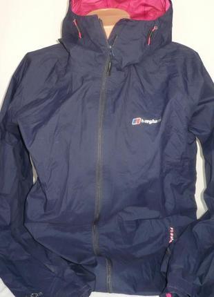 Berghaus aq 2 куртка ветровка удлинённая большой размер молния капюшон жіноча куртка