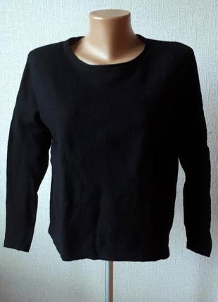 Кофта базовая черная свитер джемпер полувер оверсайз h&m