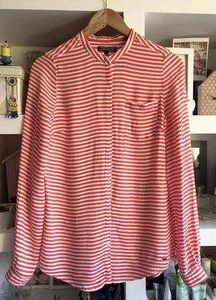 Шелковая блузка рубашка tommy hilfiger