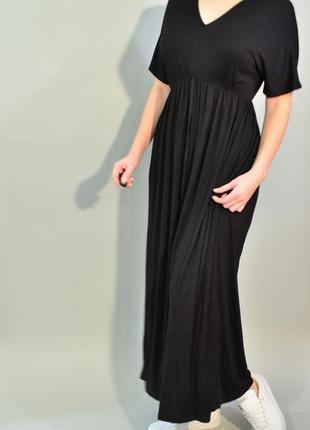 4194\90 черное трикотажное платье new look xxl